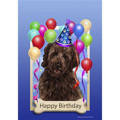 doodle happy birthday sayang goldendoodle chocolate happy birthday flag by tamara