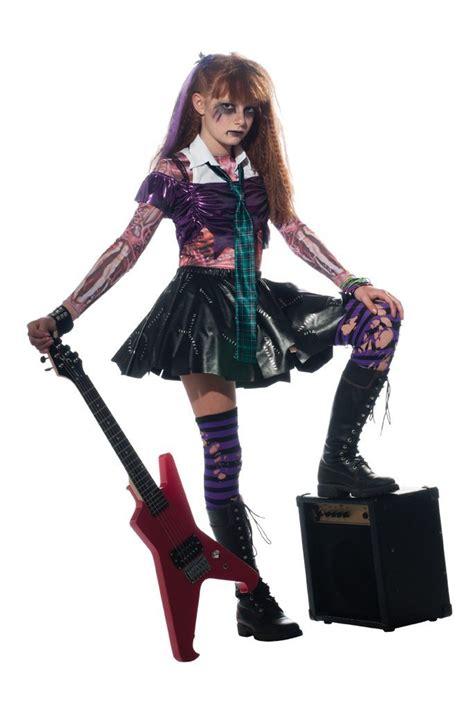halloween rockstar hairstyles 80s punk rocker girls fancy dress costume halloween punks