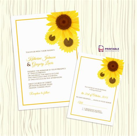 free sunflower invitations template archives decorating