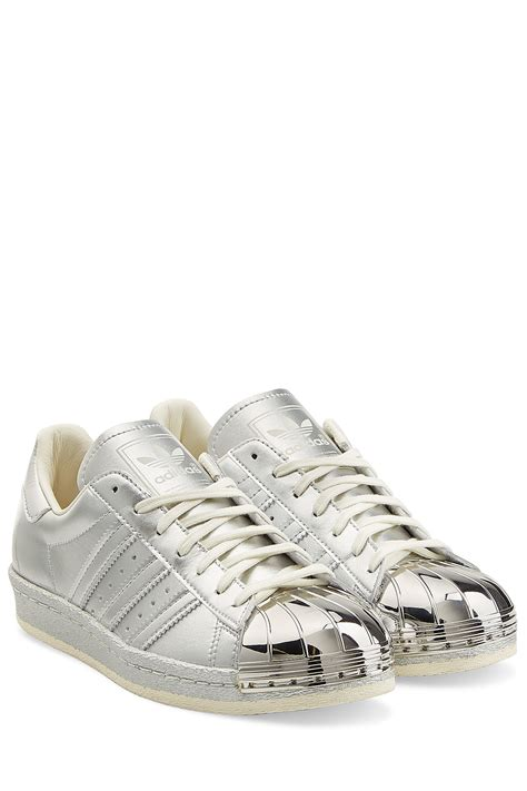 metallic sneakers adidas originals leather superstar sneakers with metallic