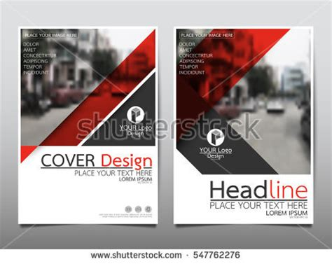 magazine layout presentation red flyer cover business brochure vector stock vector