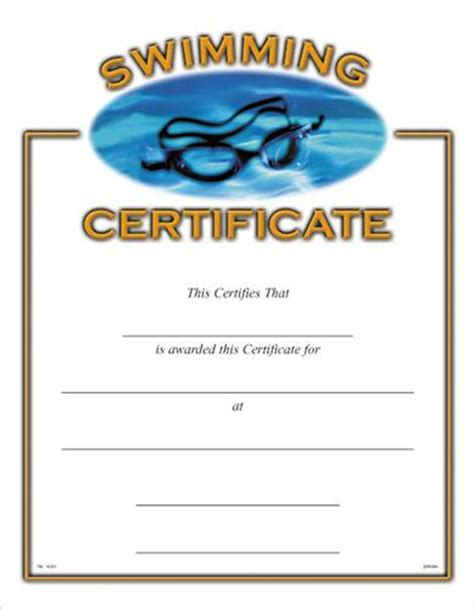 blank certificates swimming award certificate swimming certificates swimming award certificate