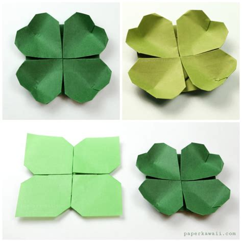 Origami Shamrock - origami shamrock for st s day paper kawaii