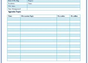 meeting minutes template excel printable documents
