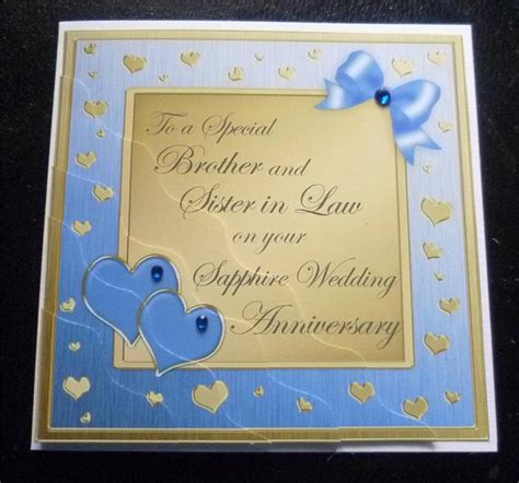 Wedding Anniversary Cards Ebay by Special In Sapphire 45th 45 Years