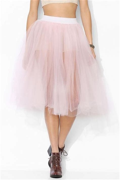 outfitters renewal tulle midi skirt in pink lyst