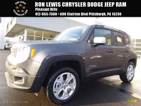 granite jeep renegade 2017 granite crystal metallic jeep renegade limited 4x4