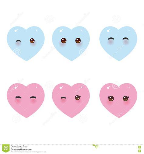 imagenes de ojos kawai coeurs bleus roses dr 244 les de kawaii avec les joues roses