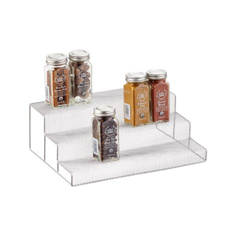 Cabinet Organizers The Container Store | 3 tier silver mesh cabinet organizer the container store