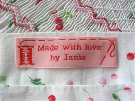 Handmade Sewing Labels - woven labels for handmade crafts