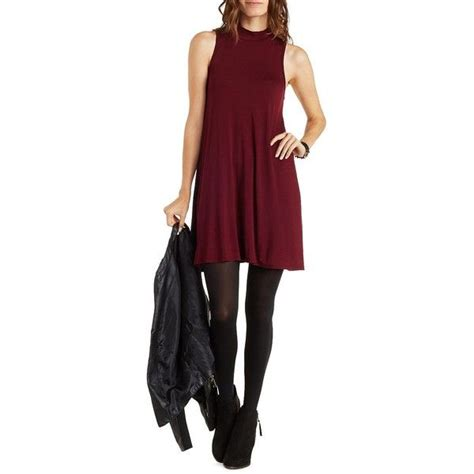 russe burgundy sleeveless mock neck swing dress by 25 liked on