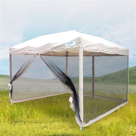 10x10 gazebo quictent 10x10 8x8 pop up gazebo tent canopy mesh