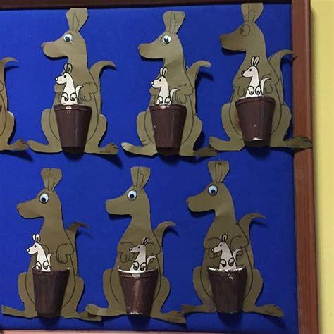 Kangaroo Paper Craft - paper cup kangaroo craft dieren kangaroo