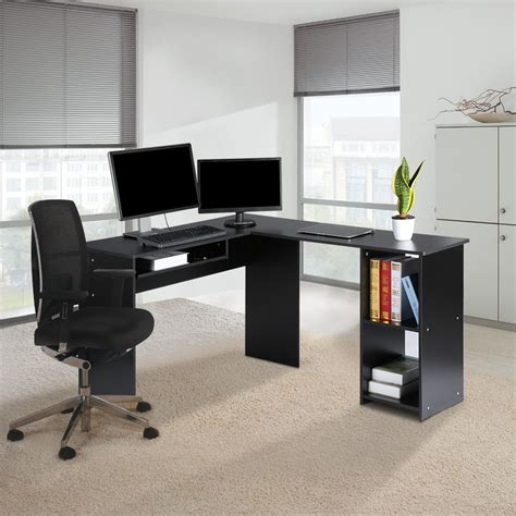 L Shaped Study Desk L Shape Computer Desk Corner Pc Laptop Study Table Workstation Home Office New Ebay