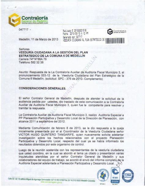 oficio remisorio informe auditoria especial by veedur 237 a