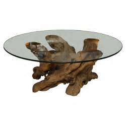 Driftwood Coffee Table With Glass Top Vintage Driftwood Coffee Table At 1stdibs
