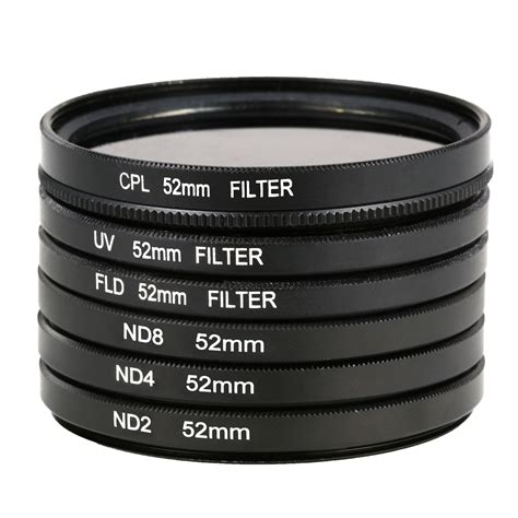 Filter Kamera Nikon D5200 9pcs filters set lens cap 52mm for nikon d7000 d5200 d3200 lf133 ebay