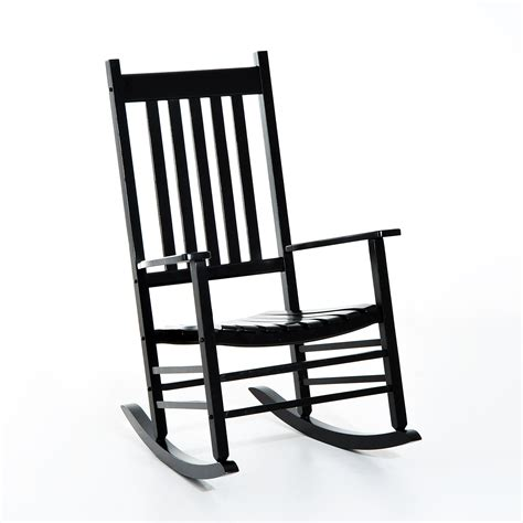 Black Outdoor Rocking Chair by Outsunny Porch Rocking Chair Outdoor Patio Wooden