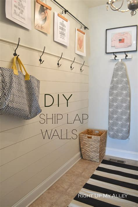 diy shiplap right up my alley diy ship wall