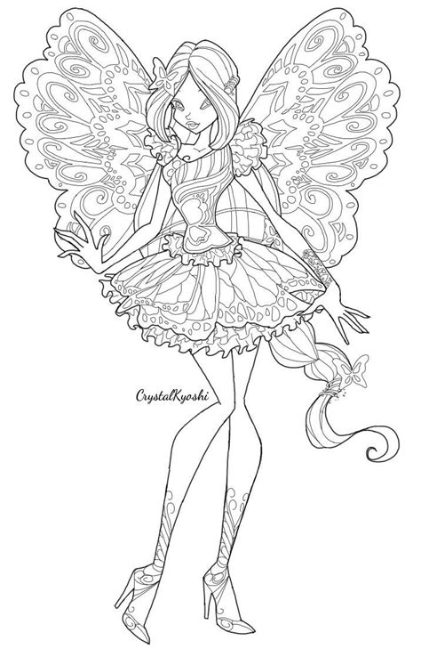 flora winx club butterflix coloring pages coloring pages