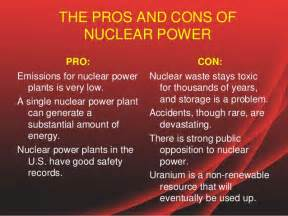 Nuclear Power Plant Advantages And Disadvantages Essay by The Pros And Cons Of