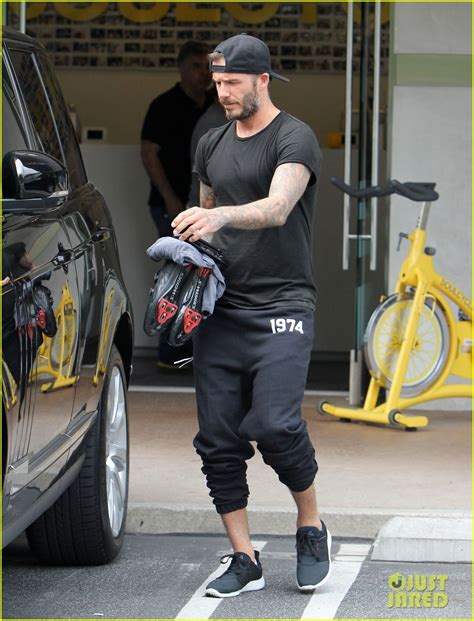 david beckham gets back into his soulcycle routine after