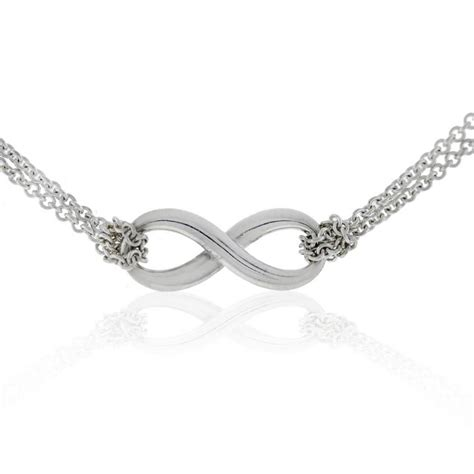 sterling silver infinity pendant necklace and co sterling silver infinity chain