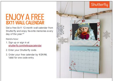 Calendar Discount Shutterfly Coupon Code Shutterfly Calendar Couponcu Page