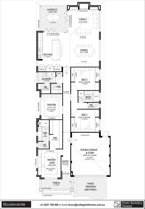 Home Plans For Narrow Lots by 25 Best Ideas About Narrow Lot House Plans On Pinterest