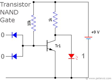 transistor nor gate circuit nand gate using diode circuit
