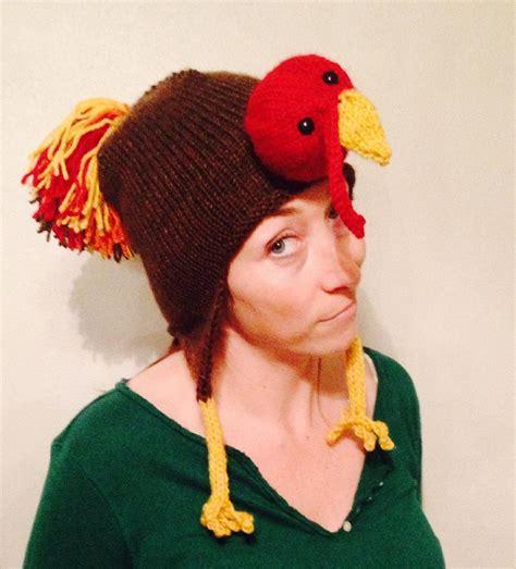 knit turkey hat pattern tom turkey earflap hat