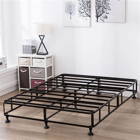 high full size bed frame full size 8 inch high profile smart box spring metal bed