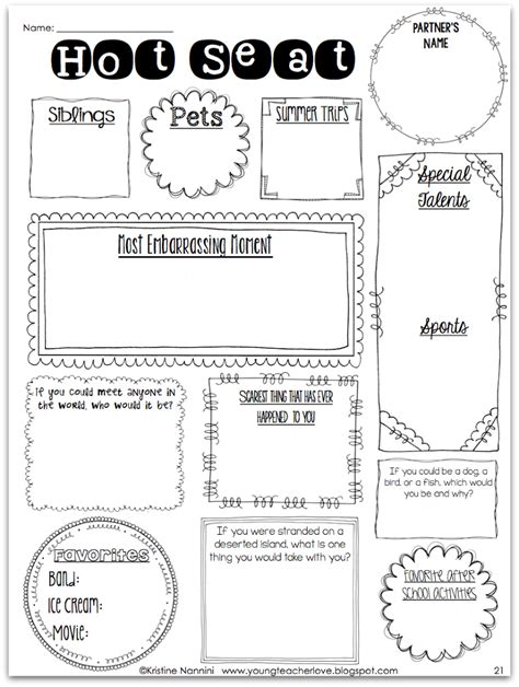 Team Building Worksheets For Adults by Beginning Of The Year Team Building Updates
