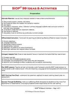 calla lesson plan template leveled questions for ells based on wida wida