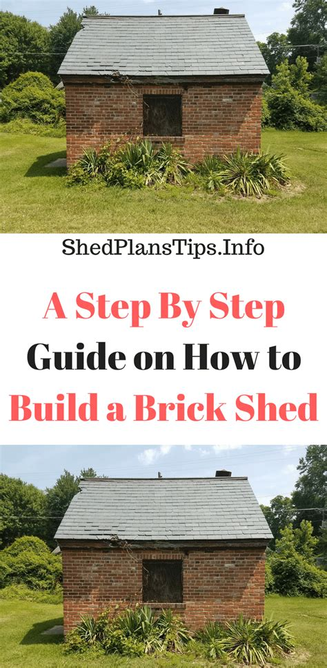step  step guide    build  brick shed