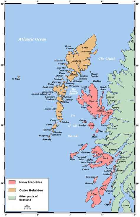 map of isles list of inner hebrides