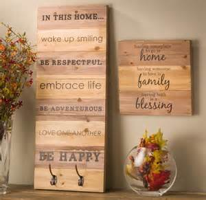 Wood Wall Decor Sayings Wood Wall Hanging Planks Craft Warehouse