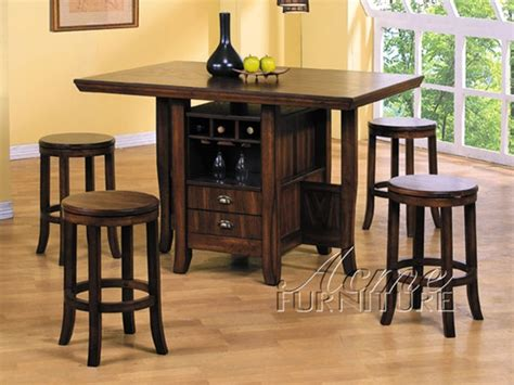 kitchen island table sets 5 piece heritage hill counter height kitchen island set in