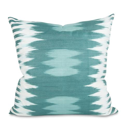 turquoise bed pillows teal ikat pillow everything turquoise