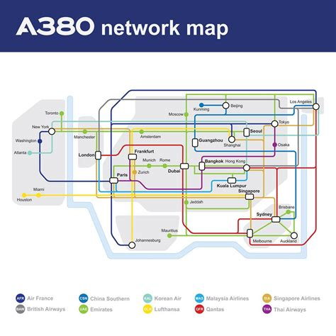 Bunk Beds Houston Airbus Posts Handy Map With All A380 Routes Subway Style