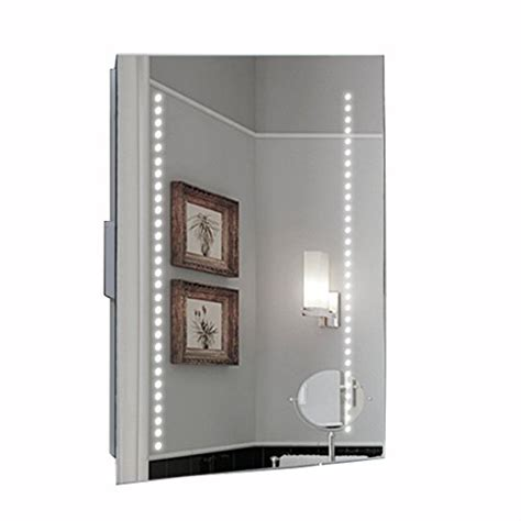 Led Bathroom Cabinet With Shaver Socket by Hapilife 60 Led Illuminated Bathroom Mirror Demister Pad