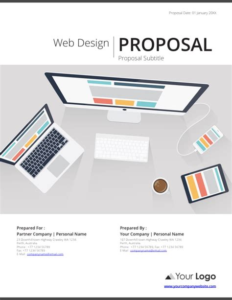 proposal design free download web design proposal template indesign and ai web design
