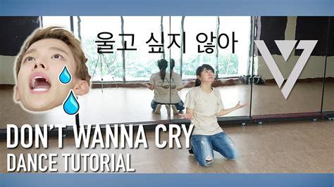 tutorial dance seventeen don t wanna cry seventeen 세븐틴 울고 싶지 않아 don t wanna cry dance tutorial