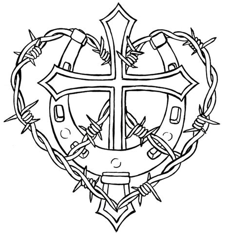 tattoo fixers zombie barbed wire cross with horseshoe and barbed wire tattoo by metacharis
