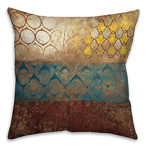 large square pillows for bed big world patterns square throw pillow in yellow blue