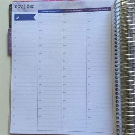 planner layout first look erin condren hourly layout planner how to