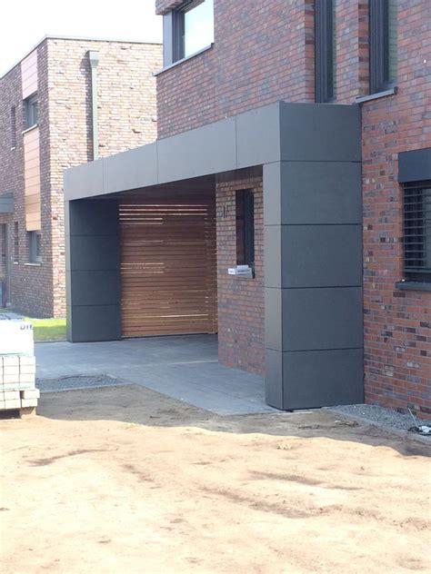 carport mit garagentor carport mit trespa und l 228 rchenholz unbedingt kaufen