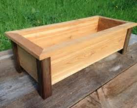 craftsman style cedar planter box herb planter flower