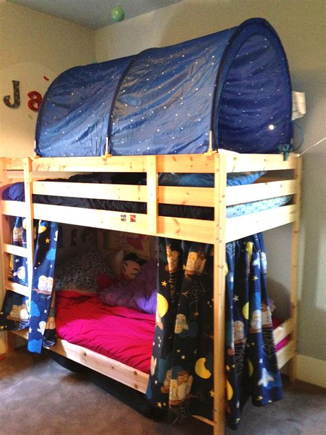 Bunk Bed With Tent Bunk Bed Forts Fumbleweeds