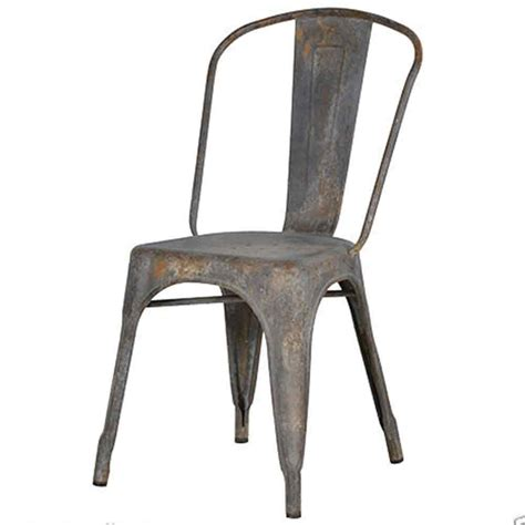 metal industrial dining chairs industrial dining chair aged metal re engineered iron chair